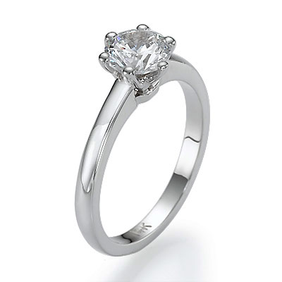 Tiffany solitaire Novo Replica 4 or 6 prongs
