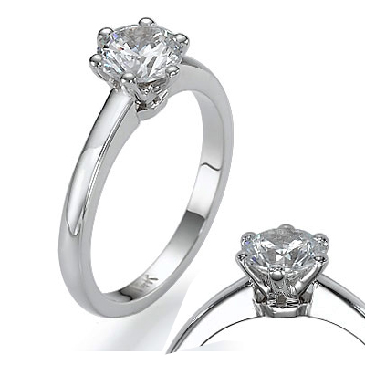 0.77 Carats, Round, Engagement ring, solitaire diamond