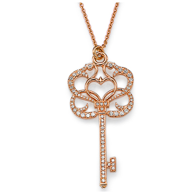 0.82 carats of diamonds Key Pendant