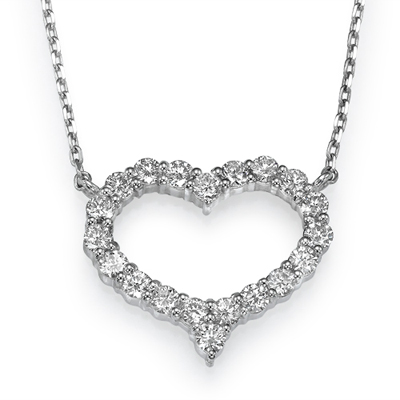 0.60carats of diamonds in a Heart Pendant
