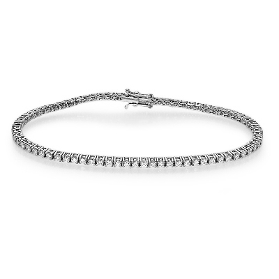 2.10 carats Round Diamonds Tennis Bracelet, 2.2mm