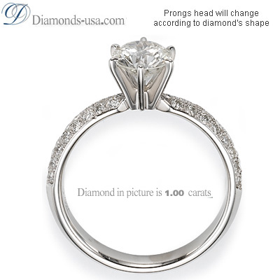 0.78 Carats, Round, Engagement and Wedding Diamond Rings Set
