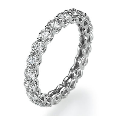 The waves eternity diamond band, 0.85 carats