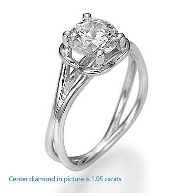 Designers Solitaire engagement ring