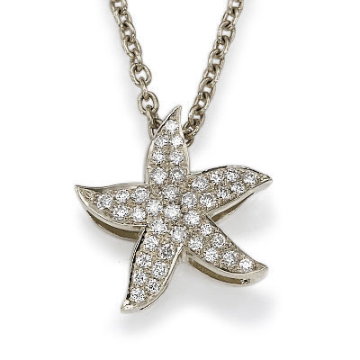 The diamonds Star Fish with 1/4 carat diamonds