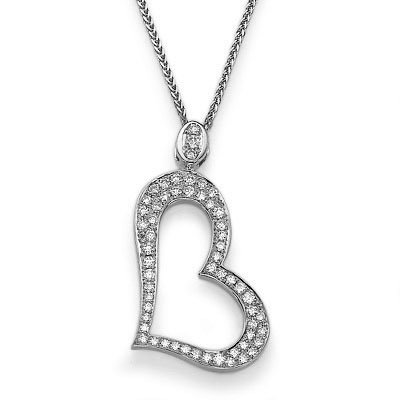 Gold Heart with 0.40 Ct diamonds