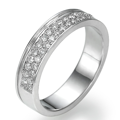 0.38 carats Diamonds wedding band