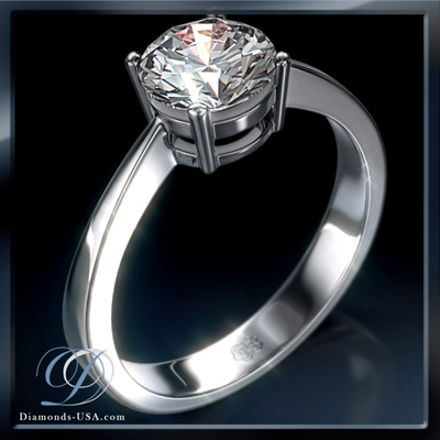 0.22 Carats, Triangle, Engagement ring, solitaire diamond