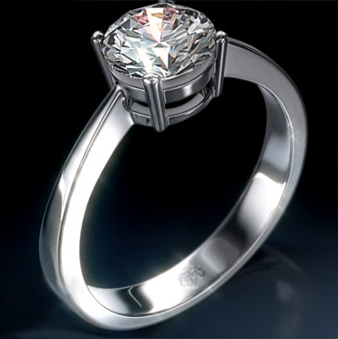0.71 Carats, Oval, Engagement ring, solitaire diamond, Finished