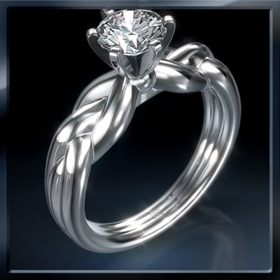 0.53 Carats, Princess, Engagement ring, solitaire diamond