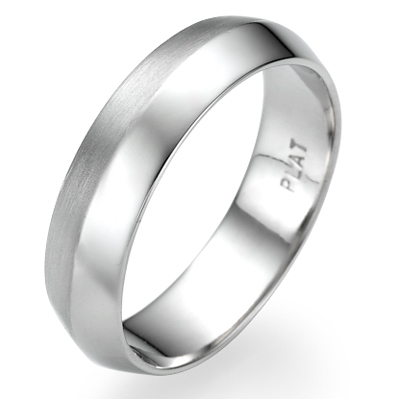 5mm Knife edge man wedding ring