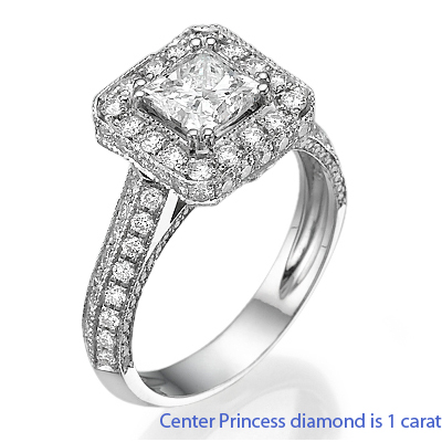 Designers Princess diamond engagement ring