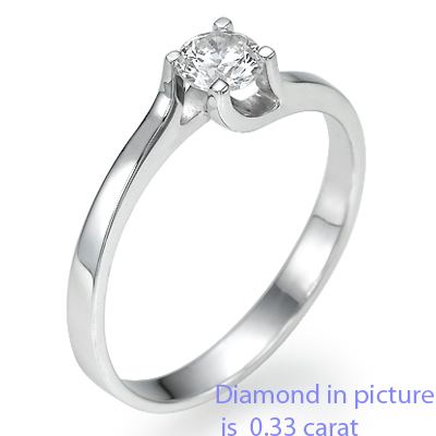 1.05 Carats, Round, Engagement ring, solitaire diamond