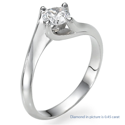 1.05 Carats, Princess, Engagement ring, solitaire diamond