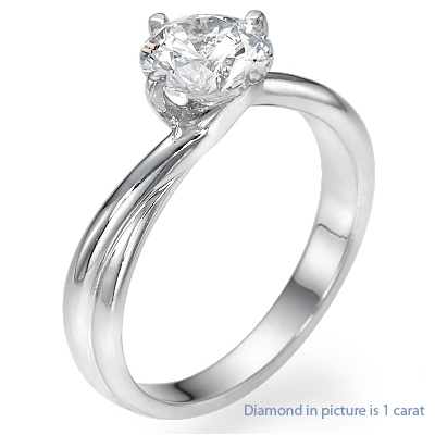 1.08 Carats, Round, Engagement ring, solitaire diamond