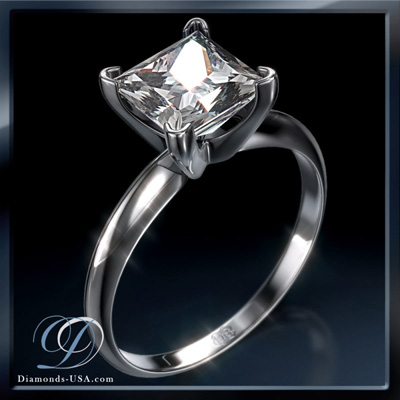 0.35 Carats, Princess, Engagement ring, solitaire diamond