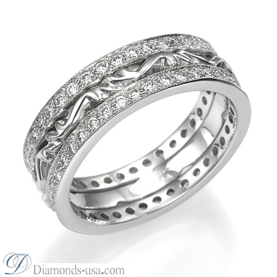 6mm 0.85 Carat diamonds Art Deco Wedding eternity band