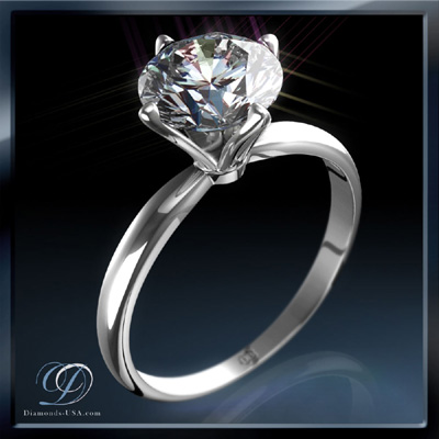 0.67 Carats, Round, Engagement ring, solitaire diamond