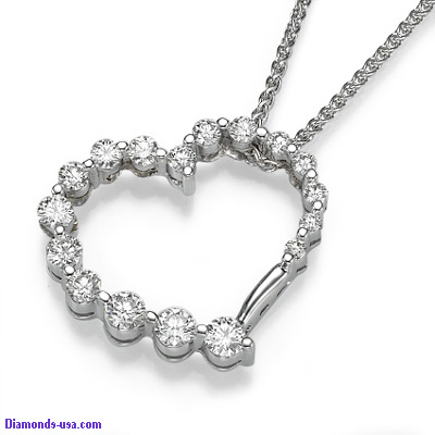 The Journey of your Heart ,1 carat  diamond necklace