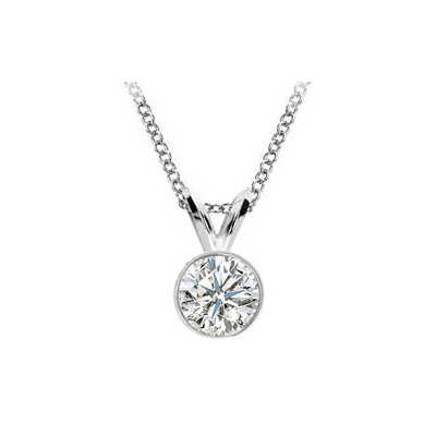 Bezel set Pendant for Round diamonds