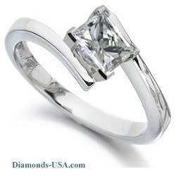 0.34 Carats, Princess, Engagement ring, solitaire diamond
