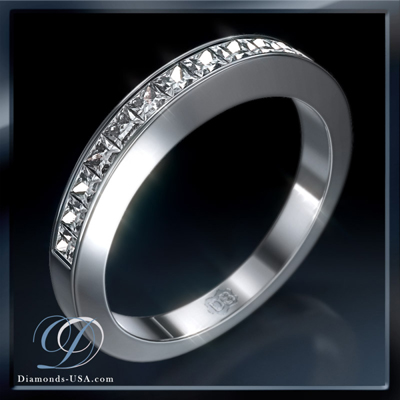 0.75 carat channel set wedding ring