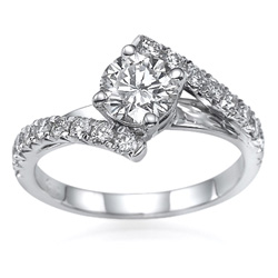 Embraced by Diamonds Ring