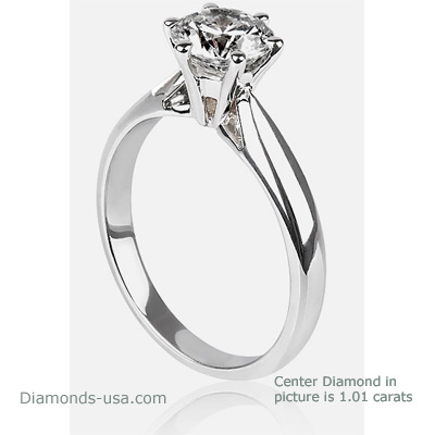 Solitaire Martini engagement ring settings