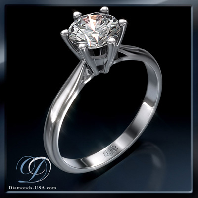 2.54 Carats, Round, Engagement ring, solitaire diamond