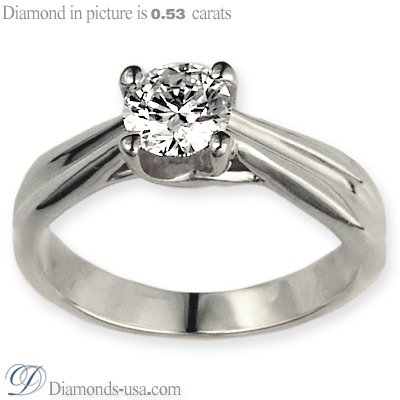 Criss Cross  solitaire engagement ring