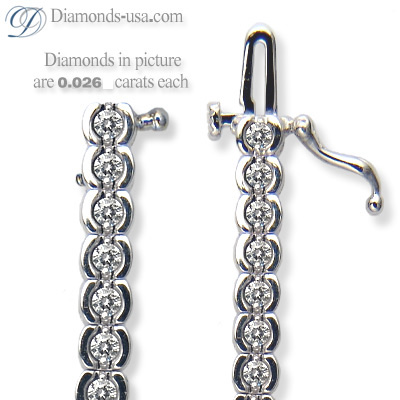 1.25 Carat G VS Round diamonds Tennis Bracelet