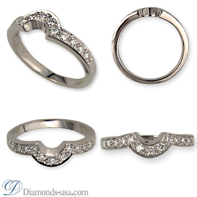Wedding ring set with 0.25 carat diamonds