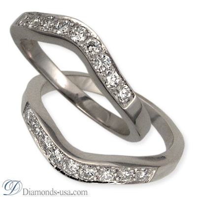 Wedding ring set with 0.27 carat diamonds