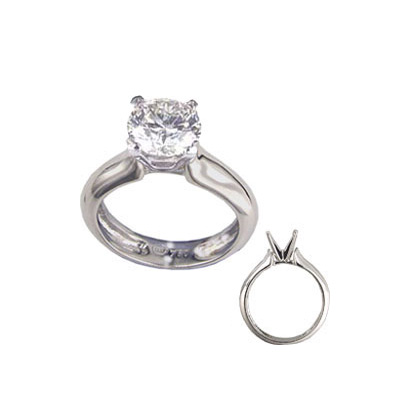 0.43 Carats, Round, Engagement ring, solitaire diamond