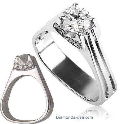 The Eiffel Diamond Engagement Ring