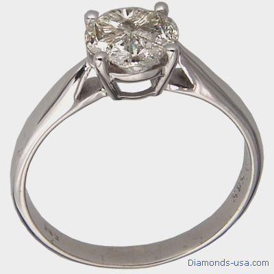 1 carat look, diamond Engagement ring