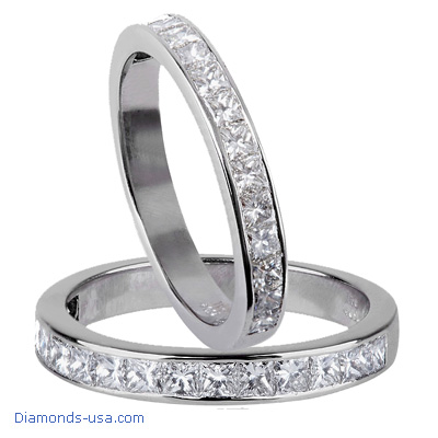 3/4 Carat 3mm Wedding / Anniversary Band