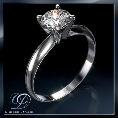 Solitaire Diamond Ring at Diamonds-USA