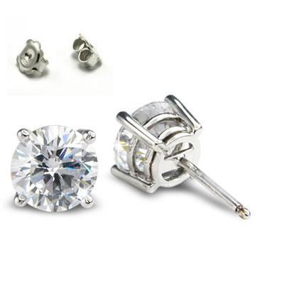 0.33 Carats, Round, Finished,Round diamonds earring studs.