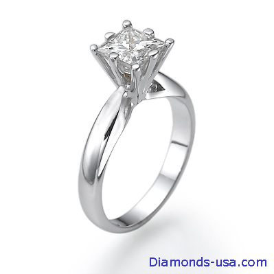 0.31 Carats, Princess, Engagement ring, solitaire diamond