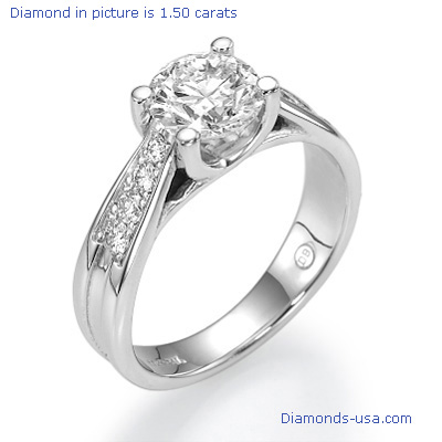 Crisscross engagement ring settings for larger centers