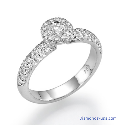 3/4 carat diamond engagement ring.