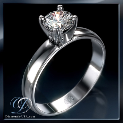 1.22 Carats, Round, Engagement ring, solitaire diamond, Finished