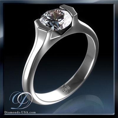 Tension solitaire Engagement ring