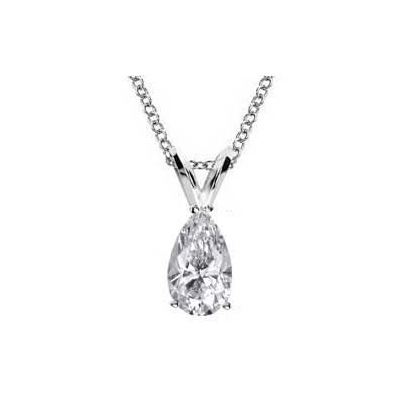 1.08 Carats, Pear, Finished,Pear shaped diamond Pendant.
