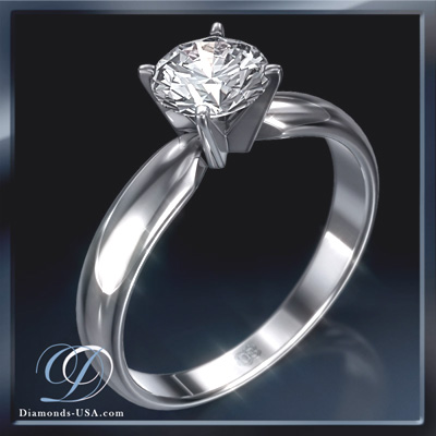 0.41 Carats, Cushion, Engagement ring, solitaire diamond