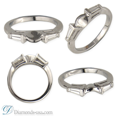 0.99 Carats, Pear, Engagement and Wedding Diamond Rings Set