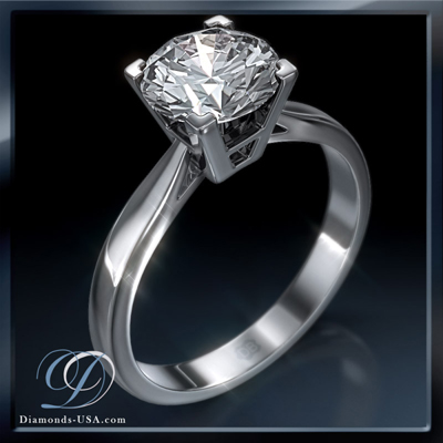 1.24 Carats, Radiant, Engagement ring, solitaire diamond, Finished