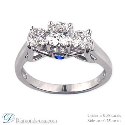 Designers three stones diamond ring