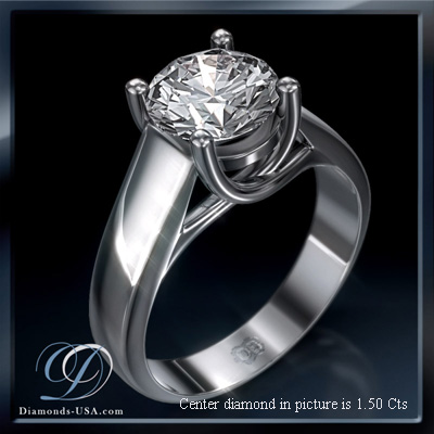 CrissCross, solitaire engagement ring
